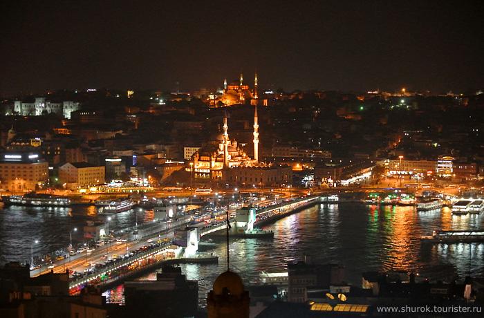 Istanbul at night, Turkey.
