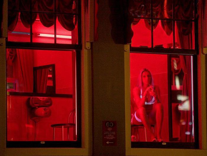 Amsterdam's Red Light District.