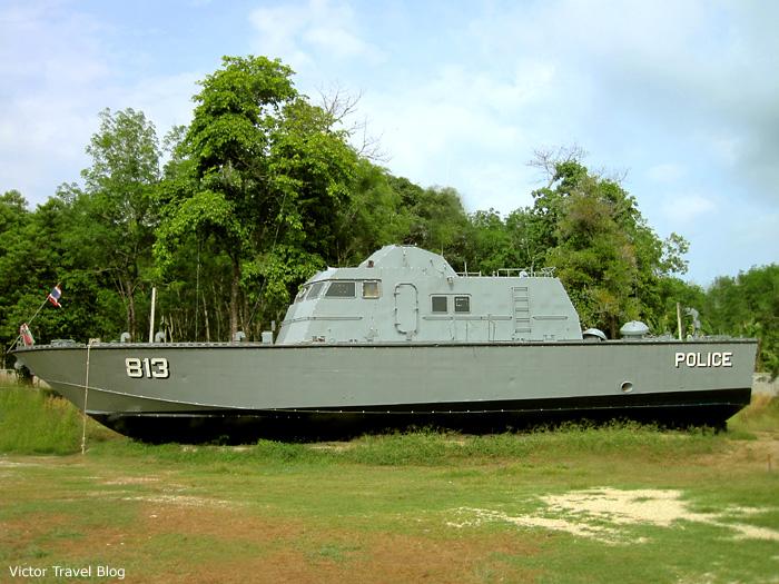 The marine police vessel Tor813, Phuket, Thailand.