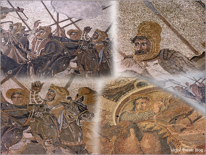 Alexander the Grate and the King Darius. Mosaic. Pompeii, Italy.