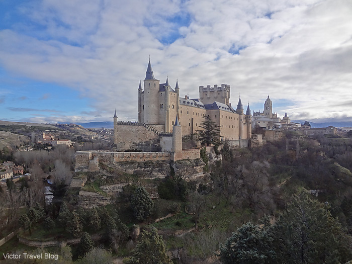 Beautiful Alkazar of Segovia, Spain.