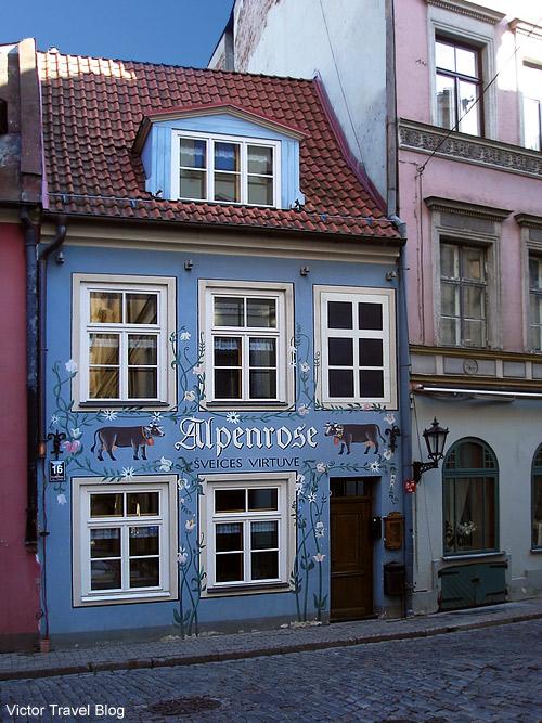 Alpenrose. The restaurant of Swiss Cuisine. Riga. Latvia.