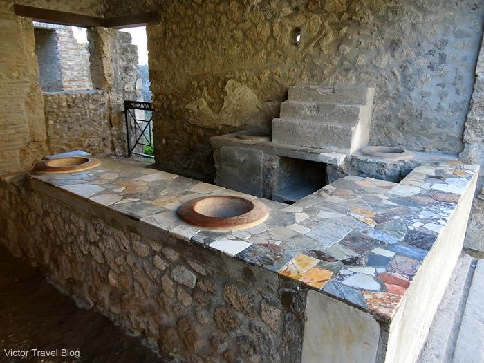 Ancient cafe in Pompeii.