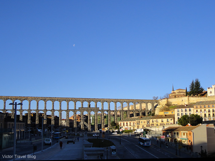 Roman Aqueduct of Segovia, Spain.