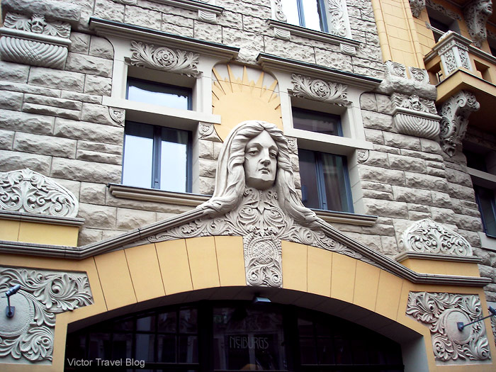 Art Nouveau architecture, Riga, Latvia.