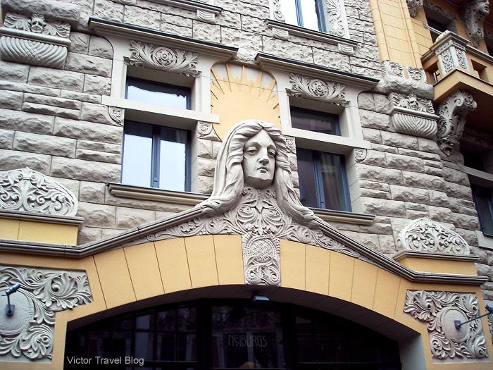Art Nouveau architecture, Riga, Latvia.