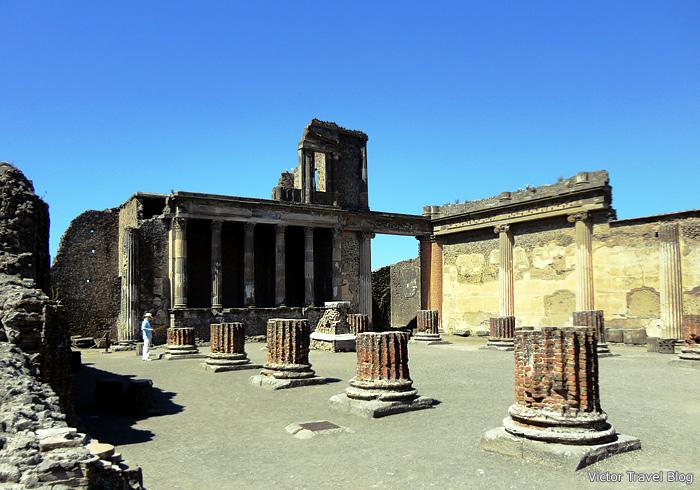 Ruins of the Basilica. Pompeii, Italy.