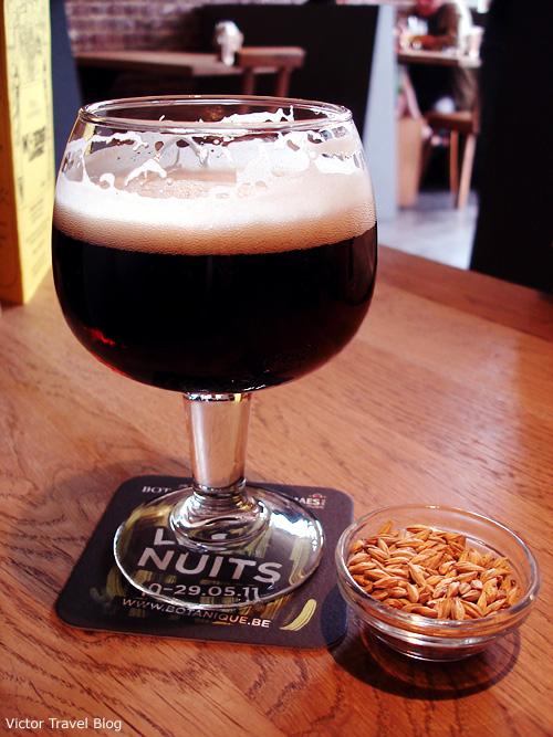 Beer in Bruges, Belgium.