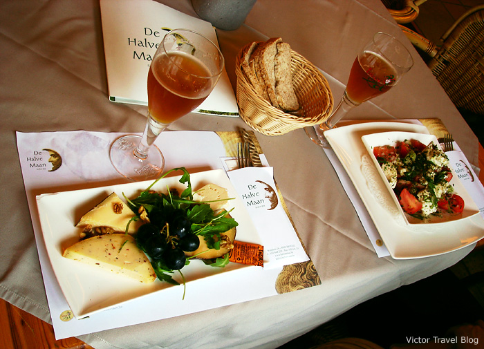 The cheese plate in De Halve Maan is the only family brewery in the centre of Bruges that is still active.