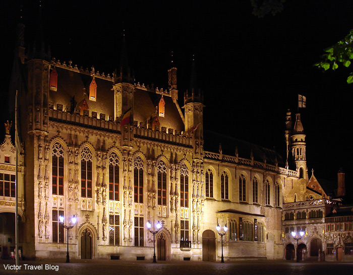 The Basilica of the Holy Blood in Bruges, Belgium.