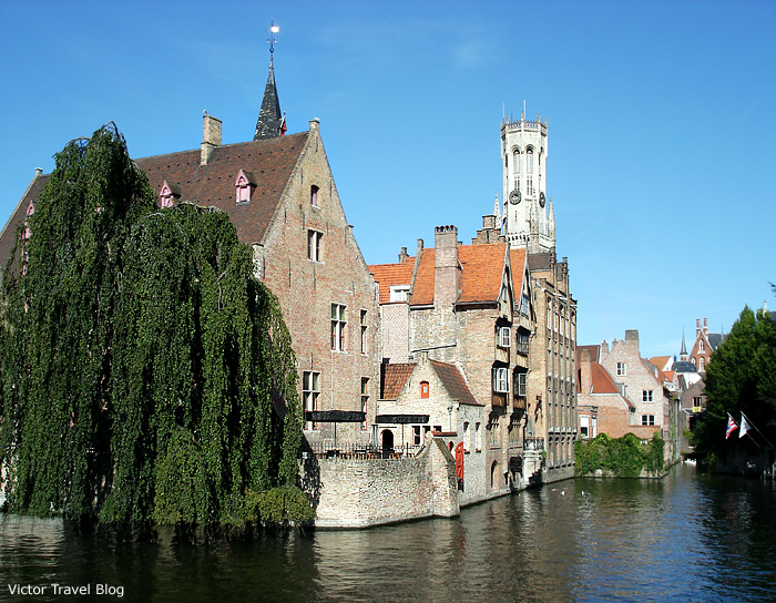 The historical center of Brugge, Belgium.