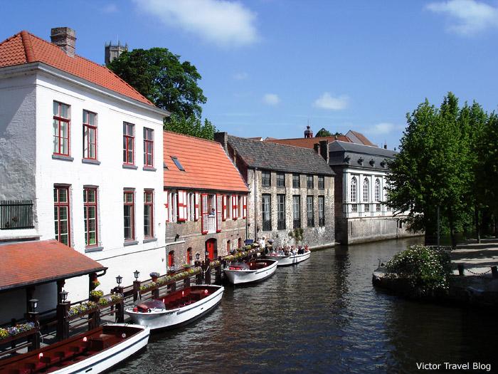 The historical center of Bruges, Belgium.