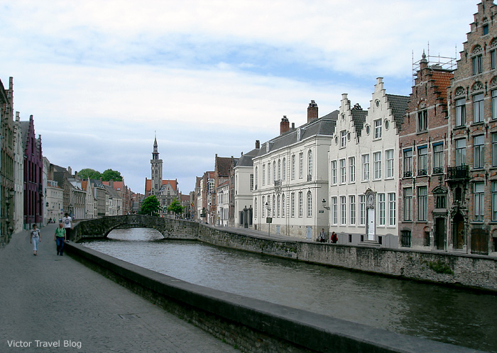 One of the canals of Bruges, Belgium.