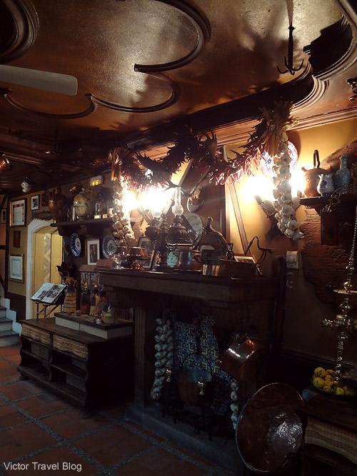 Interior of Casa DUQUE restaurant. Segovia, Spain.