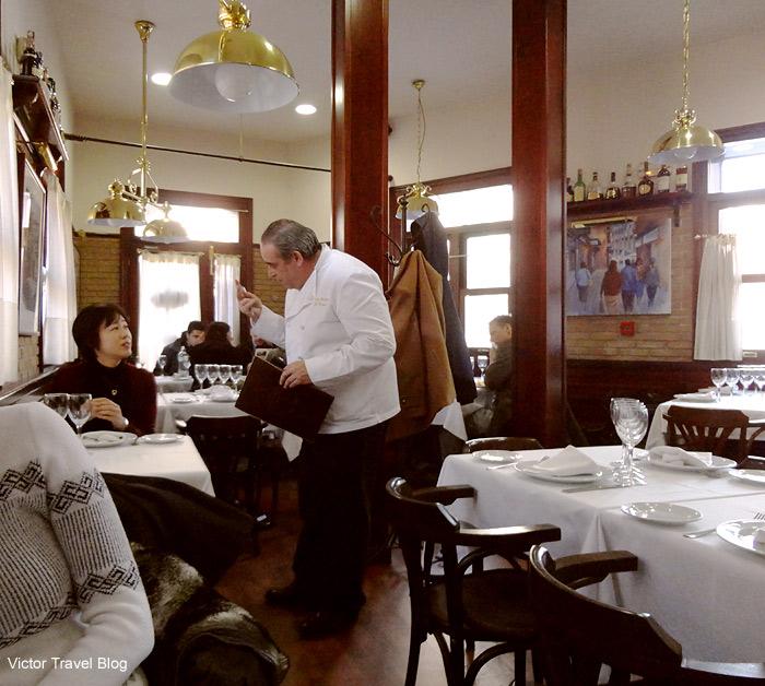 The Chef of Casa Vicente Rastaurante. Segovia, Spain.