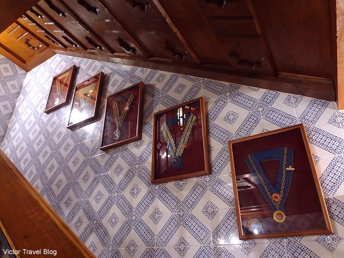The medals of Casa DUQUE restaurant. Segovia, Spain.