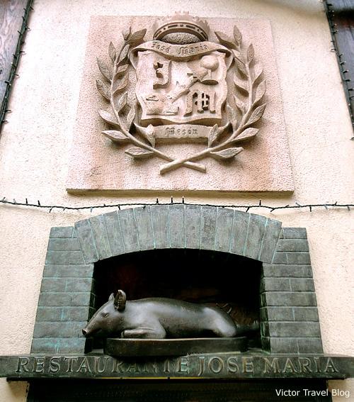 Roast Suckling Pig Restaurante. Segovia, Spain.