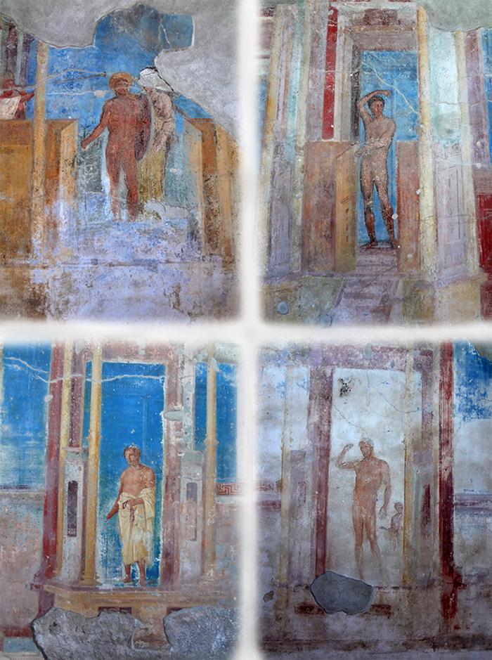 Frescos of Pompeii. Via Della Regina, building 24. Italy.