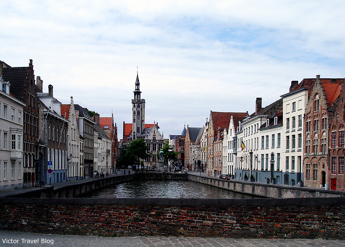 The historical center of Bruges, Belgium.