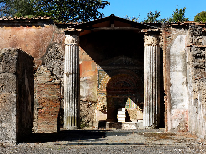 The House with the big fountain. Pompeii, Italy.