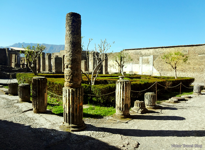 One of the closed houses of Pompeii. Italy.