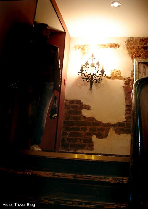The wall of the Justus Hotel. Riga, Latvia.