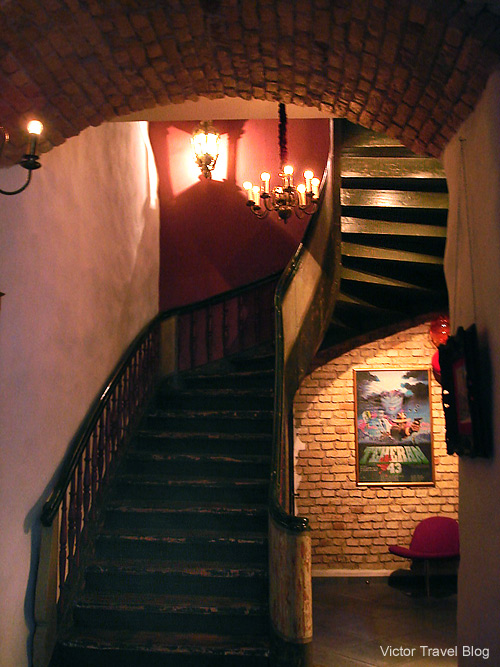In the Justus Hotel. Riga, Latvia.