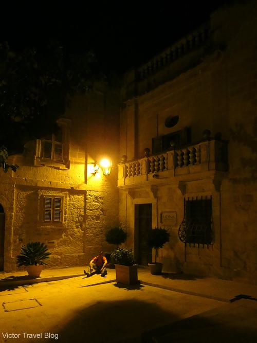 Night in Valletta. Malta.