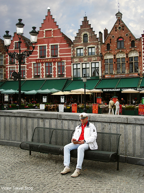 The center of the Old Bruges, Belgium.