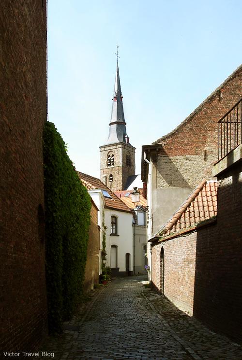 Saint Anna's Church of Bruges, Belgium.