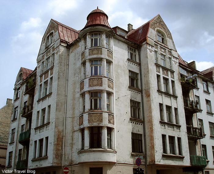 Old house. Riga, the capital of Latvia.