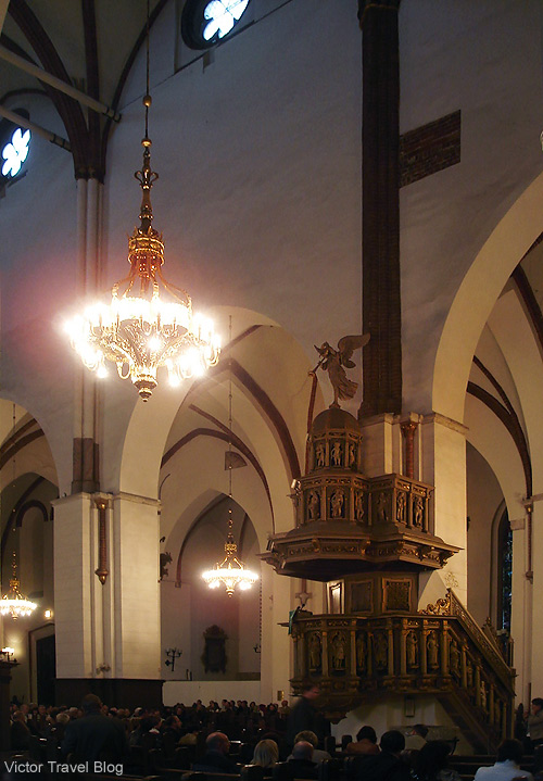 Inside of the Riga Cathedral or Rīgas Doms. Latvia.
