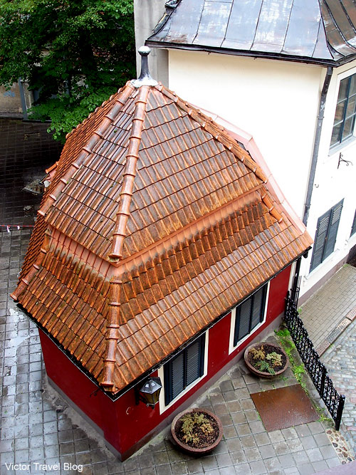 The smallest house of Riga, Latvia.