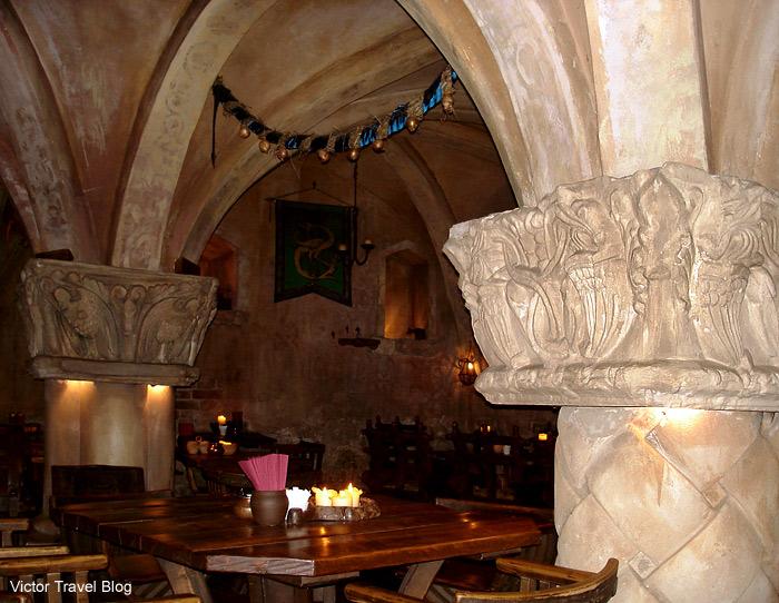 Inside of the restaurant Rozengrals. Riga, Latvia.