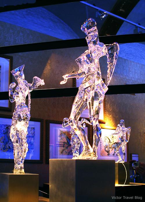 Exhibition of Salvador Dali under the Balfort tower in Bruges, Belgium.