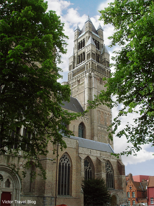 The Sint-Salvator Cathedral of Bruges, Flanders, Belgium.