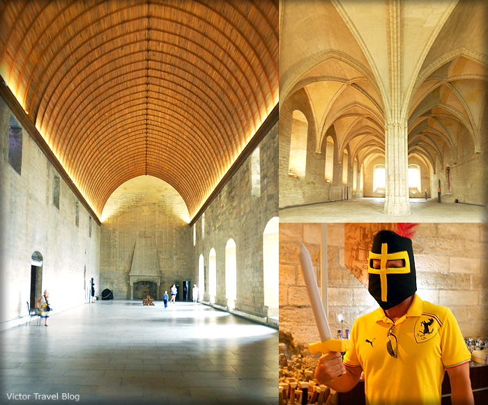 Interiors of the Papal Palace. Avignon, France.