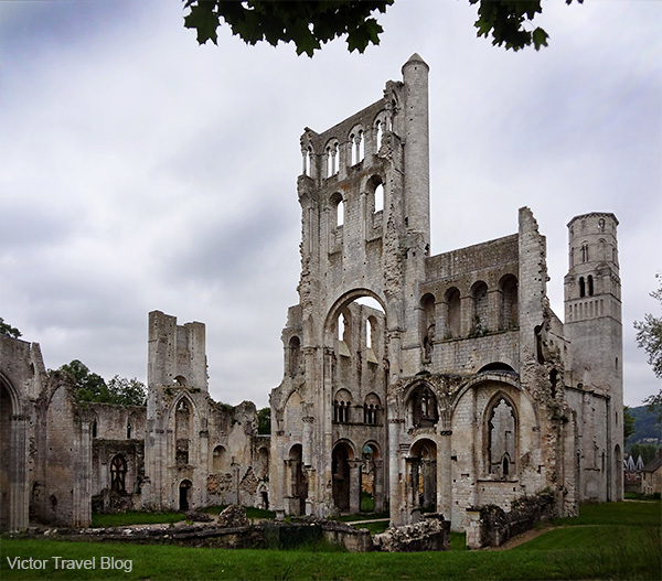 The ruins of Jumieges Abbey are the remains of one of the oldest monasteries in the western world.