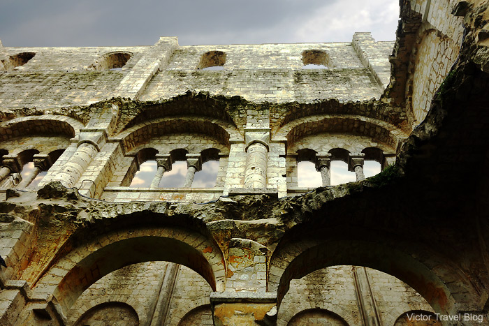 The ruins of Jumieges Abbey. Normandy, France.