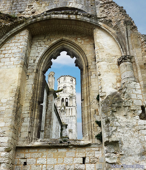 The ruins of the Jumieges Abbey in Normandy, France.