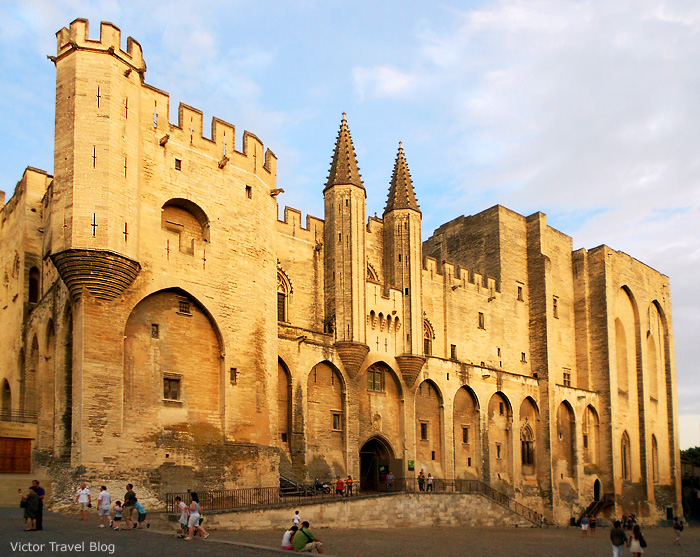 The Papal Palace. Avignon, France.