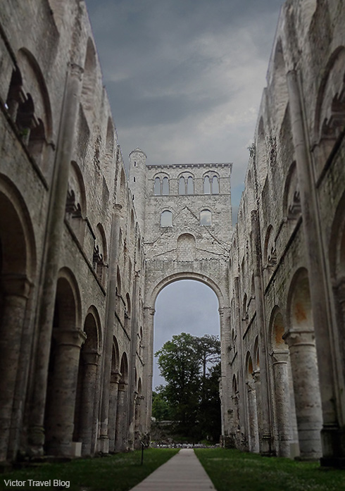 The ruins of the Church of Notre-Dame. Jumieges Abbey. Normandy, France.