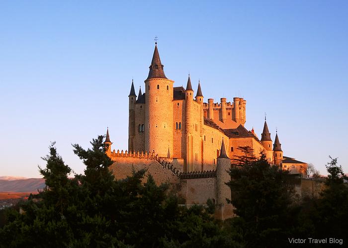 The Alcazar of Segovia or the Segovia Castle. Spain.
