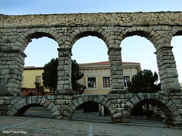 The Aqueduct of Spanish Segovia.