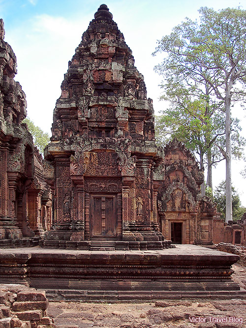 Banteay Srey female temple in Cambodia.