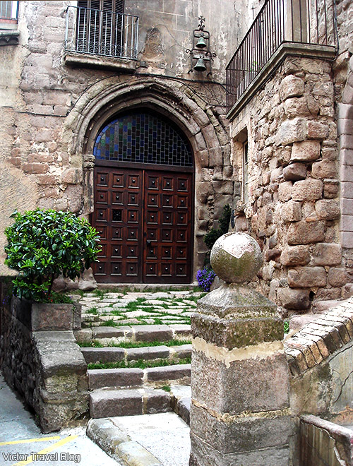 One of the doors of Cardona, Catalonia, Spain.