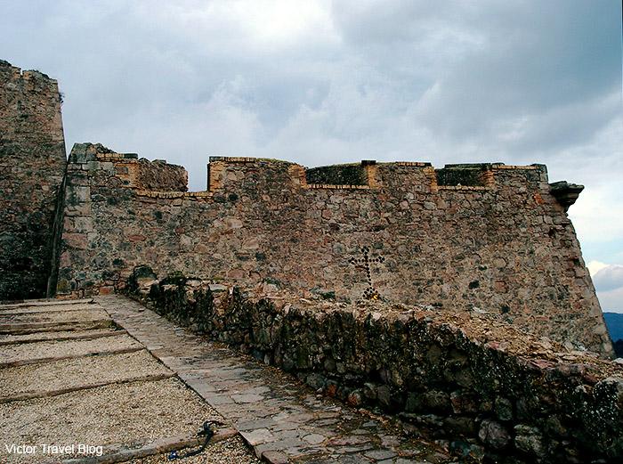 The second fortification wall of the Castle of Cardona. Cardona, Catalonia, Spain.