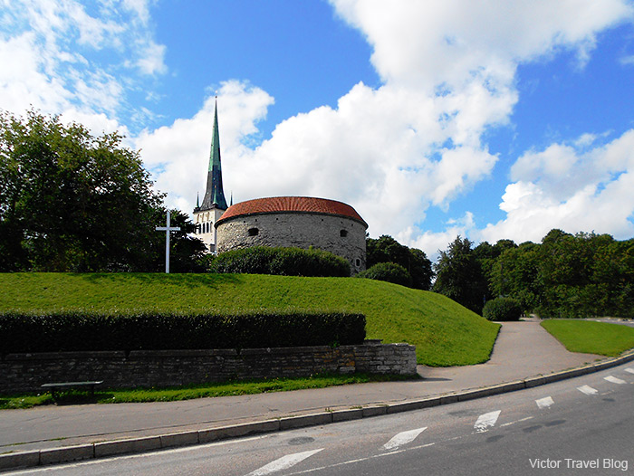 The Fat Margaret Tower in the old town of Tallinn, Estonia.