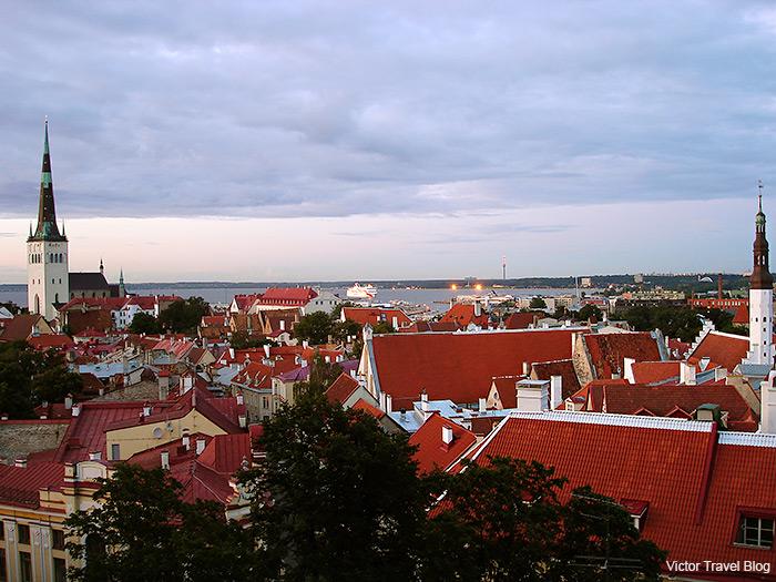 The Ferry Tallinn-Helsinki enters the port. Tallinn, Estonia.