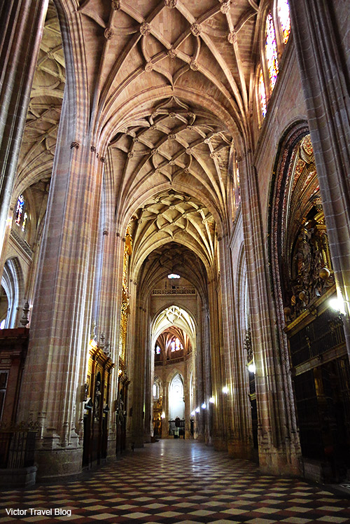 Inside of the Сathedral of Segovia. Spain.